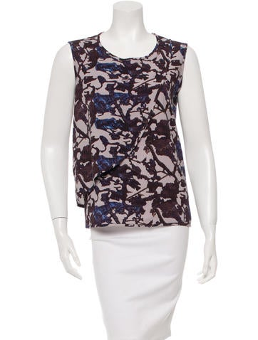 Zero + Maria Cornejo Silk Printed Top None