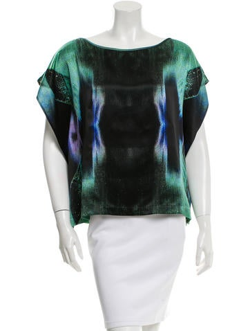 Zero + Maria Cornejo Printed Silk Top None