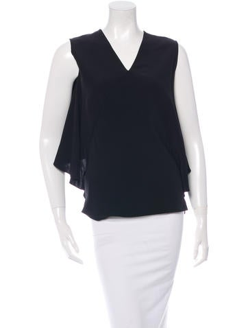 Zero + Maria Cornejo Sleeveless Draped Top None