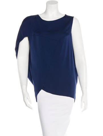 Zero + Maria Cornejo Silk Draped Top None