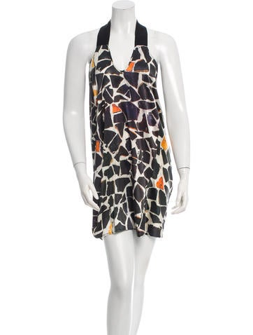 Zero + Maria Cornejo Printed Silk Dress