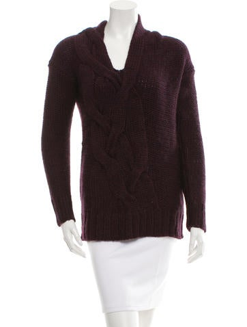 Zero + Maria Cornejo V-Neck Cable Knit Sweater w/ Tags None