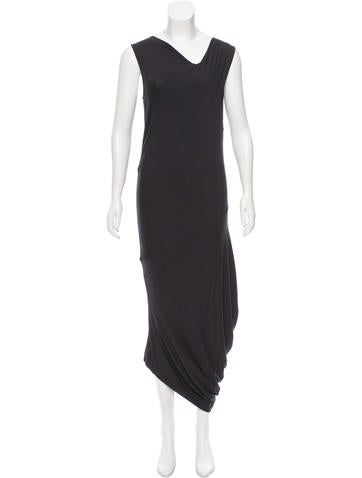 Zero + Maria Cornejo Asymmetrical Maxi Dress None