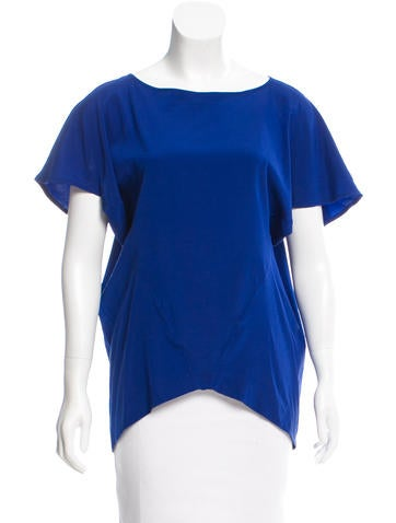 Zero + Maria Cornejo Scoop Neck Silk Top None