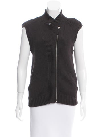 Zero + Maria Cornejo Wool Rib Knit Vest None