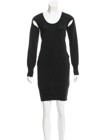 Zero + Maria Cornejo Merino Wool Cutout Dress None
