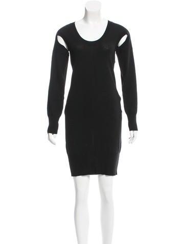Zero + Maria Cornejo Merino Wool Cutout Dress None