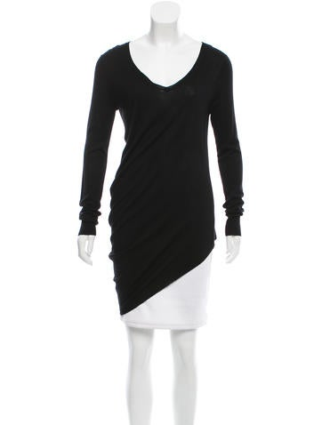 Zero + Maria Cornejo V-Neck Asymmetrical Sweater None