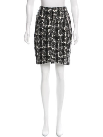 Zero + Maria Cornejo Patterned Wool-Blend Skirt None