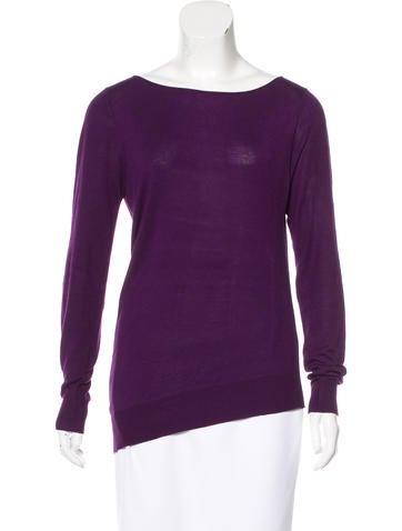 Zero + Maria Cornejo Asymmetrical Knit Sweater None