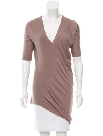 Zero + Maria Cornejo Asymmetrical Silk-Blend Top None