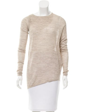Zero + Maria Cornejo Asymmetrical Alpaca Sweater None