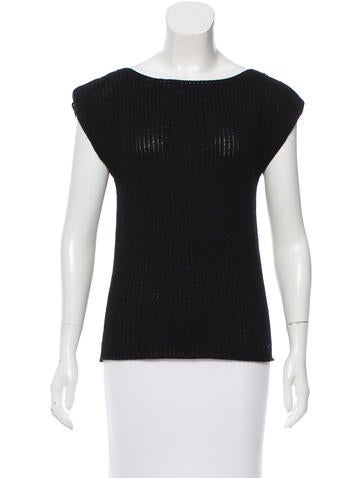 Zero + Maria Cornejo Sleeveless Wool Sweater None