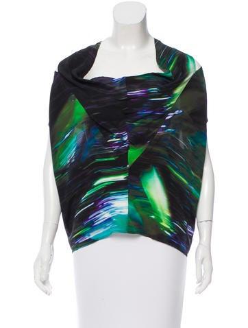 Zero + Maria Cornejo Silk Abstract Print Top None