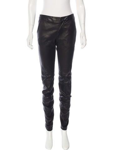 Zero + Maria Cornejo Leather Skinny Pants
