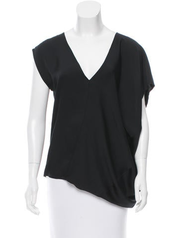 Zero + Maria Cornejo Asymmetrical Silk Top None