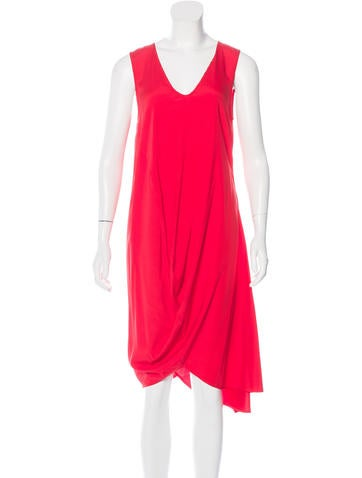 Zero + Maria Cornejo Draped Silk Dress w/ Tags None