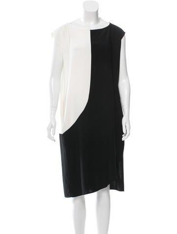 Zero + Maria Cornejo Two-Tone Oversize Dress None