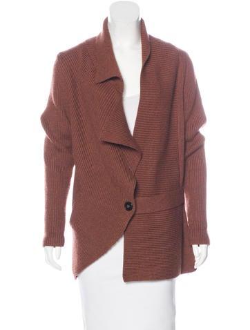 Zero + Maria Cornejo Merino Wool Rib Knit Cardigan None