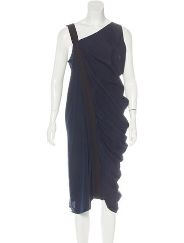 Zero + Maria Cornejo Silk Asymmetrical Dress None