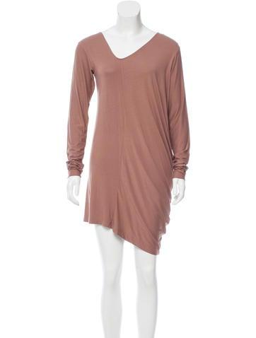 Zero + Maria Cornejo Asymmetrical Long Sleeve Dress None