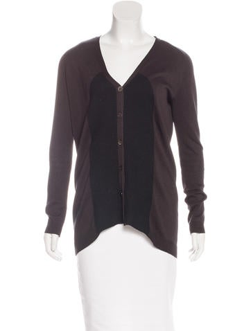 Zero + Maria Cornejo V-Neck Button-Up Cardigan None