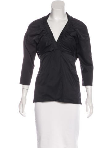 Zero + Maria Cornejo Elasticized Wrap Top None