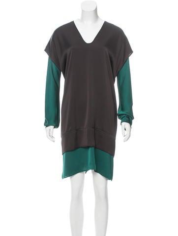 Zero + Maria Cornejo Layered Two-Tone Dress w/ Tags None