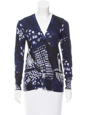 Zero + Maria Cornejo Printed Knit Cardigan None