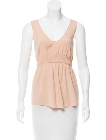 Zero + Maria Cornejo Sleeveless Silk Top None