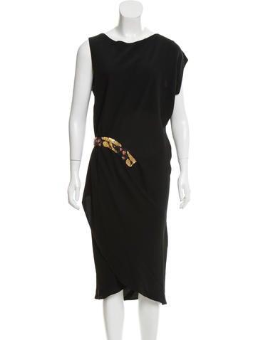 Zero + Maria Cornejo Embellished Midi Dress None