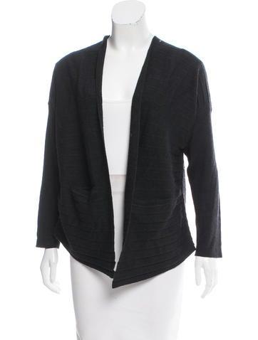 Zero + Maria Cornejo Wool Open Front Cardigan None
