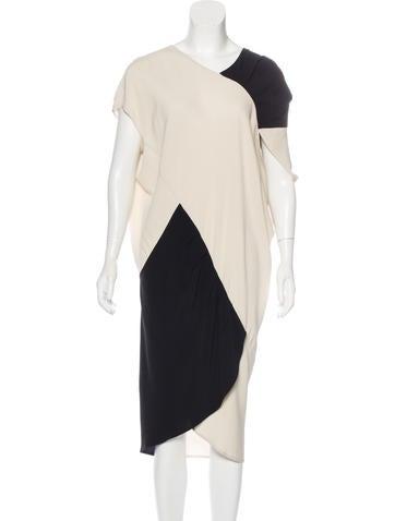 Zero + Maria Cornejo Colorblock Midi Dress None