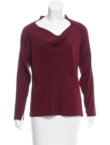 Zero + Maria Cornejo Long-Sleeve Silk Top None