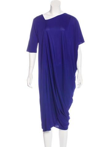 Zero + Maria Cornejo Asymmetrical Midi Dress None