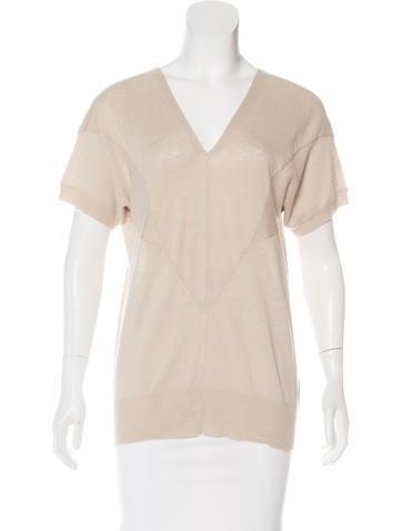 Zero + Maria Cornejo Short Sleeve Knit Top None