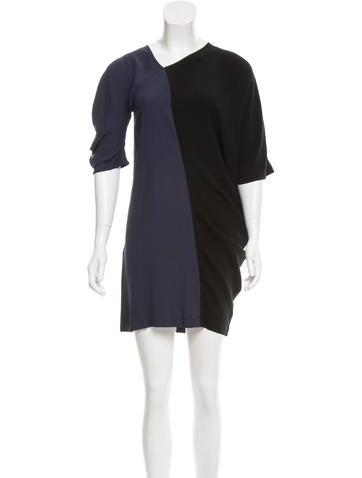 Zero + Maria Cornejo Asymmetrical Short Sleeve Dress None