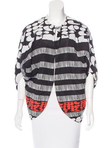 Zero + Maria Cornejo Printed Draped Jacket None