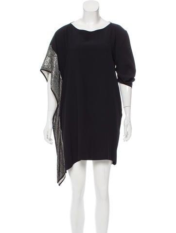 Zero + Maria Cornejo Sequined Asymmetrical Dress None