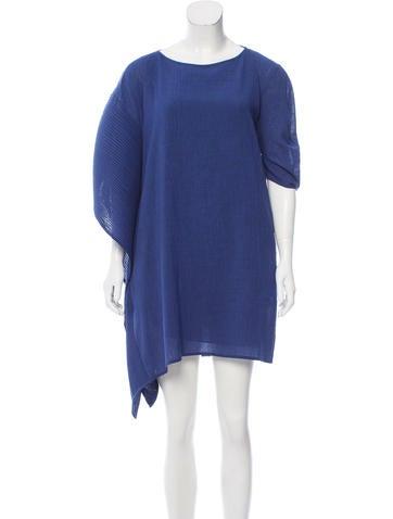Zero + Maria Cornejo Asymmetrical Mini Dress None