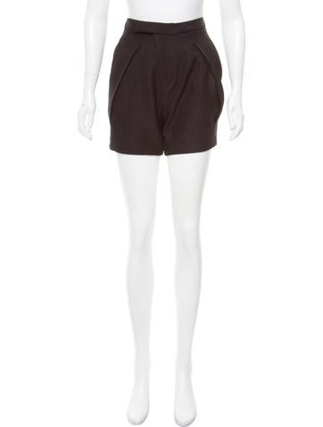 Zero + Maria Cornejo Knit High-Rise Shorts None