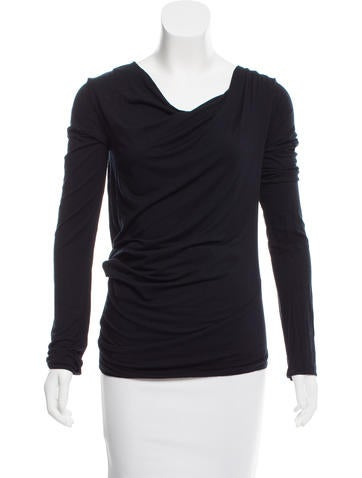 Zero + Maria Cornejo Asymmetrical Long Sleeve Top None