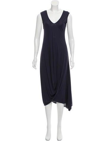 Zero + Maria Cornejo Asymmetrical Maxi Dress None