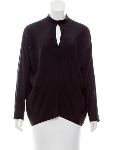 Zero + Maria Cornejo Silk Oversize Top None