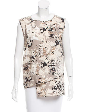 Zero + Maria Cornejo Printed Sleeveless Top w/ Tags None