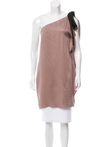 Zero + Maria Cornejo One-Shoulder Tie-Accented Tunic w/ Tags None