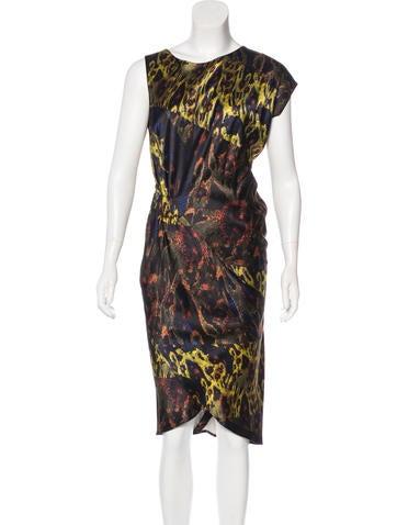 Zero + Maria Cornejo Silk Printed Dress None