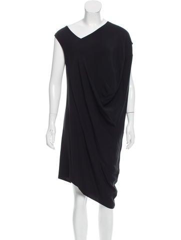 Zero + Maria Cornejo Draped Asymmetrical Dress None