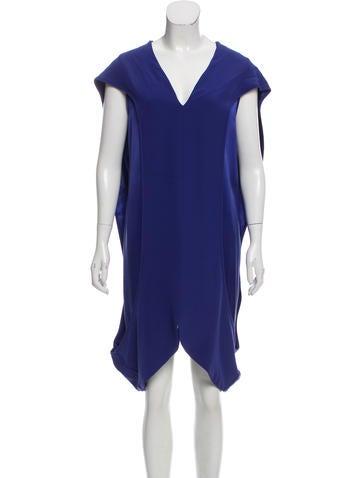Zero + Maria Cornejo Silk Knee-Length Dress None