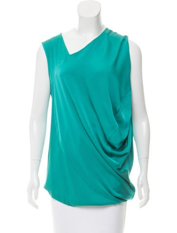 Zero + Maria Cornejo Silk Asymmetrical Neck Top None